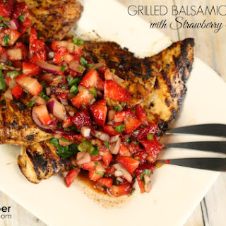 Grilled Balsamic Chicken with Strawberry Salsa
