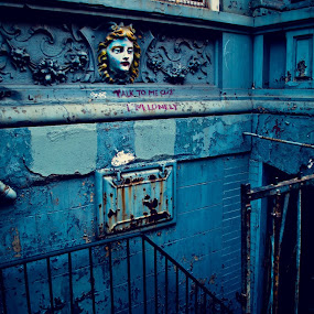 'Talk to me cuz I'm lonely' by Heather Hoppe - City,  Street & Park  Street Scenes (  )