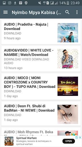 Nyimbo Mpya Tanzania - Ngoma zote za Bongo Flava. 1.2.1 screenshots 2