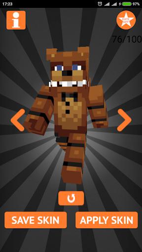 Skins FNAF for Minecraft PE 1.4 screenshots 6