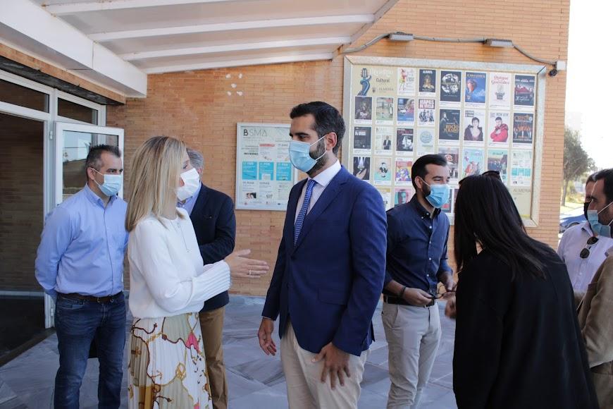 La delegada de Gobierno, el alcalde de Almería, el concejal de Níjar y el alcalde de Enix.