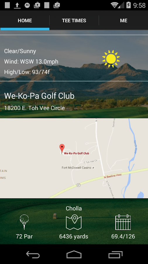 We-Ko-Pa Golf Tee Times- screenshot