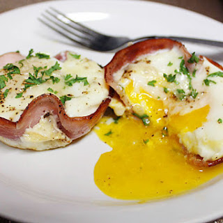 Ham and Egg Breakfast Cupcakes.
