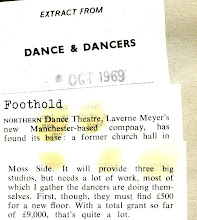 Photo: A little piece of history recently found in the archive... From October 1969, the year of our founding, an extract from Dance & Dancers about our first home...