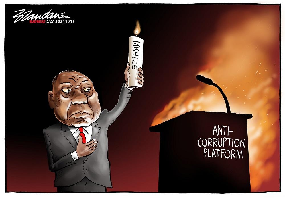 CARTOON: Ramaphosa's anticorruption torch