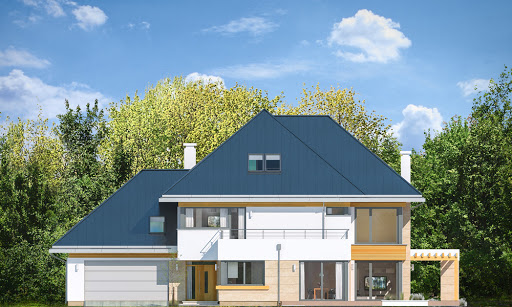 Dom z widokiem 2 C - Elewacja przednia