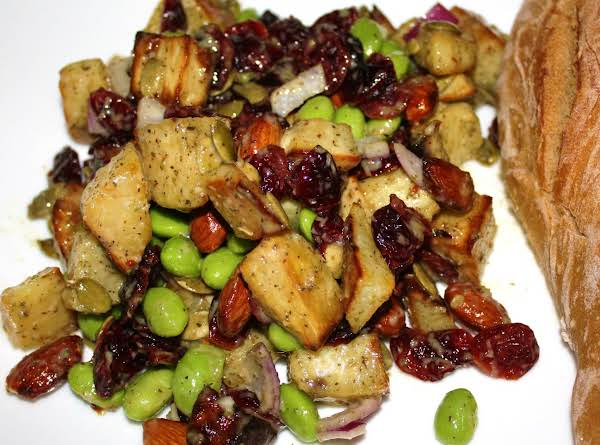 Roasted Yam And Edamame Salad Recipe