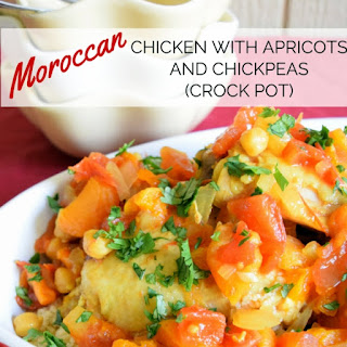 Crock Pot Moroccan Chicken with Apricots and Chickpeas
