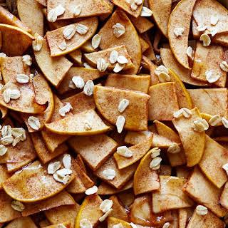 Healthy Apple Tart with Oat & Almond Crust.
