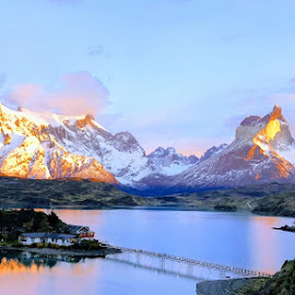 Torres sunrise by Jeff Adams - Landscapes Mountains & Hills ( landscapes, mountains, sunrise, south america, patagonia, andes )