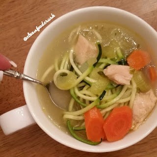 Clean Turkey Zoodle Soup Recipe – Chicken Noodle Soup, but better.