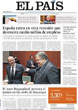 Photo: La recesión de España destruirá medio millón de empleos y pánico en webs de descargas, en nuestra portada http://www.elpais.com/static/misc/portada20120124.pdf
