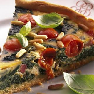 Pignoli and Spinach Tart