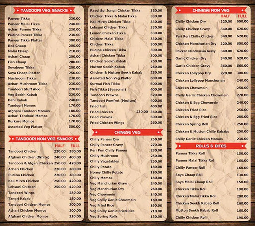 S.K Rasoi menu 5