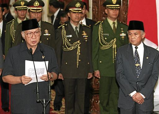 Muhammad Suharto on the left.