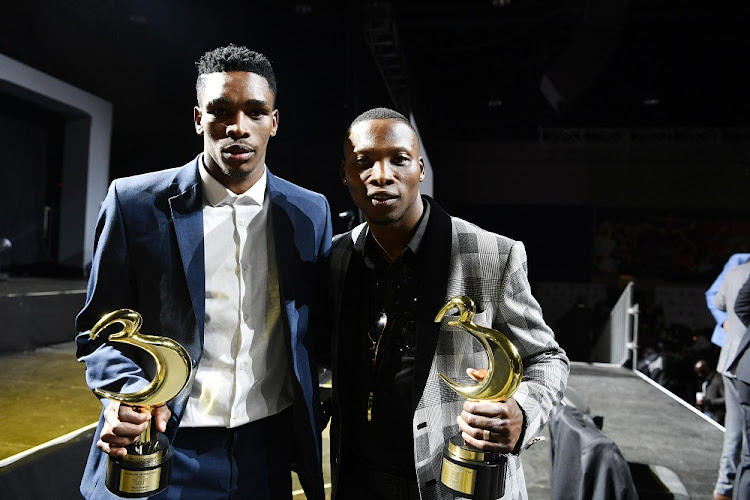 Male Boxer of the Year Tulani Mbenge and Knockout of the Year: Zolani Tete during the South African Boxing Awards at Sandton Convention Centre on May 17, 2019 in Johannesburg, South Africa.