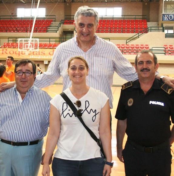 con Fernando Romay en el Pabellón Infanta Cristina de Roquetas de Mar.