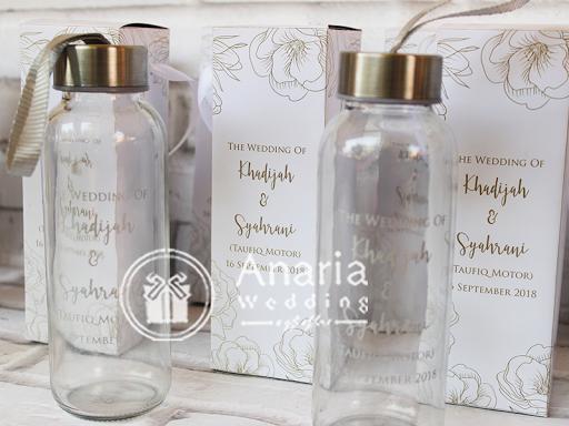 Souvenir Pernikahan Elegan Botol Im Water Bottle Ml Bahan Kaca Import Dimensi Cm Ml Sablon Barang