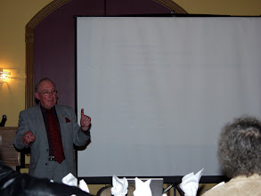 Photo: Richard Rooley presenting his Tech Session