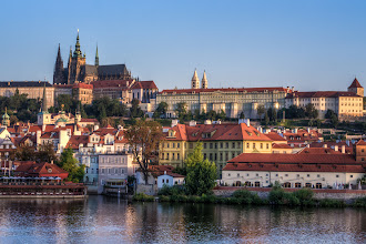 Photo: Prague Castle at Sunrise  A view on Prague Castle from Old Town near Charles Bridge.  #fortressesfriday ... not exactly a fortress but close enough curators: +Benjamin Dahlhoff