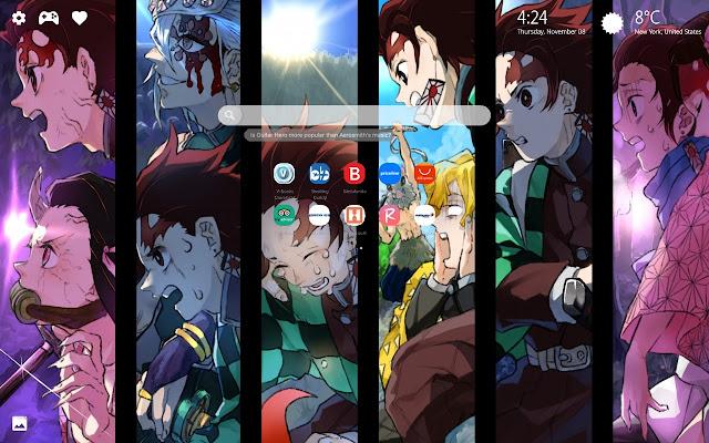 Demon Slayer Kimetsu No Yaiba New Tab Hd Pics Browser