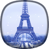 Snow in Paris Live Wallpaper