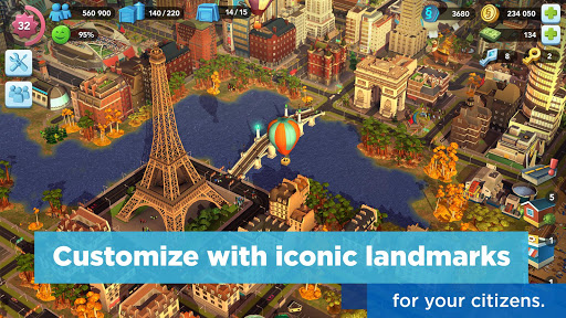SimCity BuildIt Giochi (APK) scaricare gratis per Android/PC/Windows screenshot