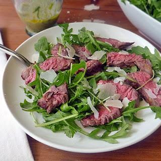 Grilled Steak with Arugula Salad