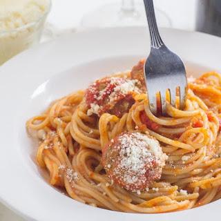 Meatballs in Tomato Sauce - for Spaghetti or Meatball Subs! Recipe
