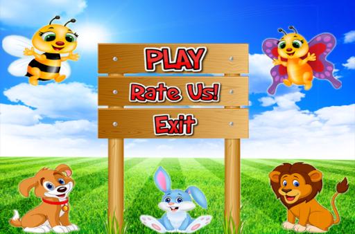Animals wood game