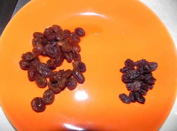 Here is what your raisins look like after the plumping. :-)
