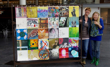 Photo: The Human Rights Flag Centre Céramique 31 March Maastricht The Netherlands: The work is finihed