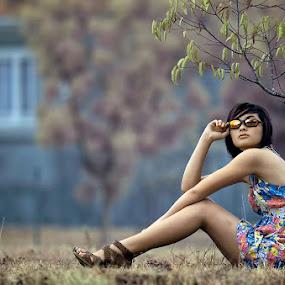 My Style by Chandra Sugiharto - People Portraits of Women (  false color,  model, women )