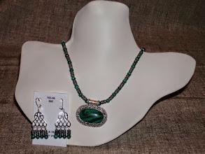 Photo: <BEREHYNYA> {Great Goddess Protectress} unique one-of-a-kind statement jewellery by Luba Bilash ART & ADORNMENT  Malachite, SS SOLD/ПРОДАНИЙ