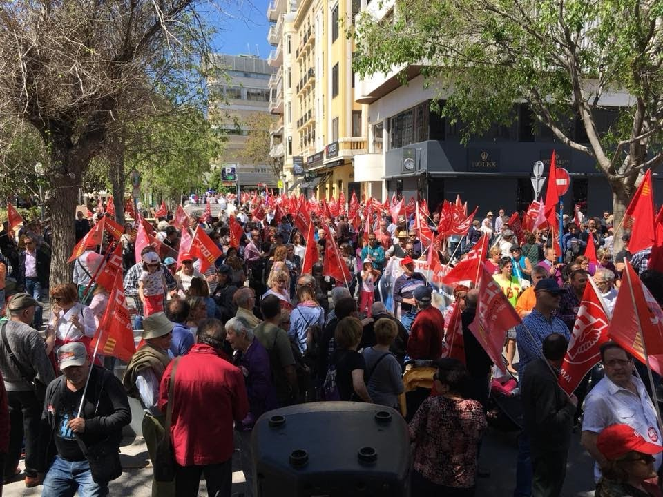 Alicante UGT PV en defensa de las pensiones