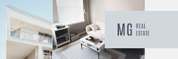 MG Real Estate Interior - Twitter Header template