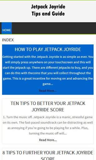 Fanmade Jetpack Joyride Guide