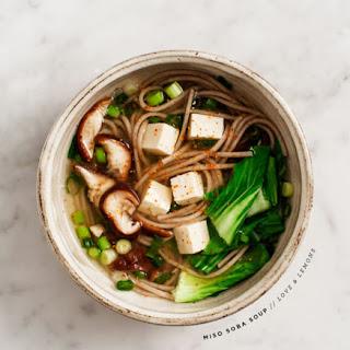 Miso Soba Soup.