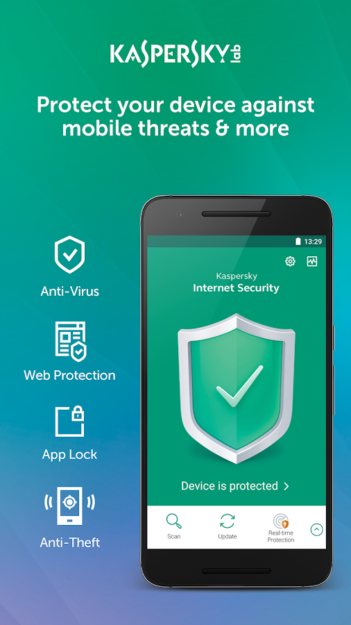 Kaspersky Mobile Antivirus: AppLock & Web Security- screenshot