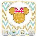 Gold Zig Zag Cute Mouse Theme icon