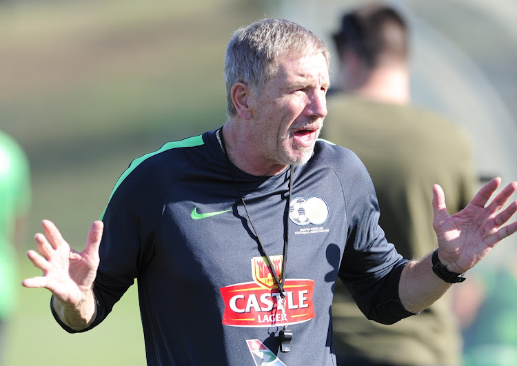 Bafana Bafana head coach Stuart Baxter during the South Africa training session at Princess Magogo Stadium, September 3 2018. Picture: GERHARD DURAAN/BACKPAGEPIX