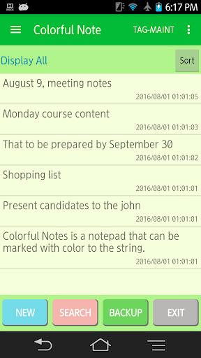 Colorful Note FreeEdition 1.1.3 Windows u7528 1