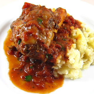 Lamb Shanks Braised with Tomato