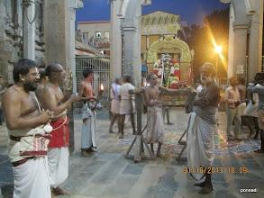 Photo: sthOthra pAtam sARRumuRai after mangaLAsAsanam inside the temple