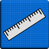 Ruler Blueprint - Cm & Inches
