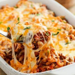 Cheesy Beef & Macaroni Casserole.
