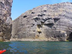 Photo: Heavily layered cliffs...