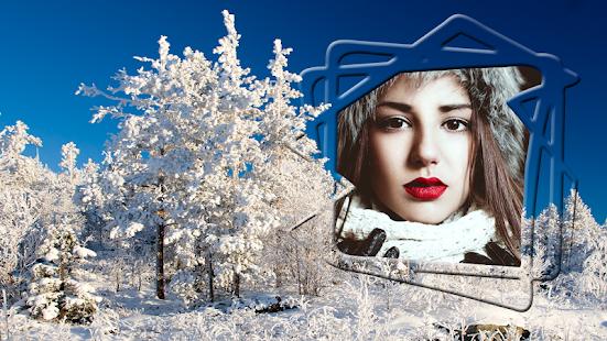 zimní fotorámečky - náhled