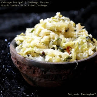 Cabbage Poriyal | Cabbage Thoran | South Indian Stir Fried Cabbage.