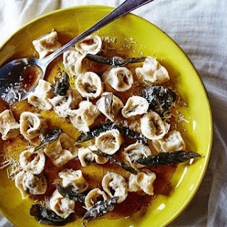 Pumpkin And Amaretti Tortellini With Sage Burnt Butter